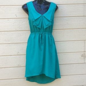 BeBop Green Hi-Low Dress with Pockets💐